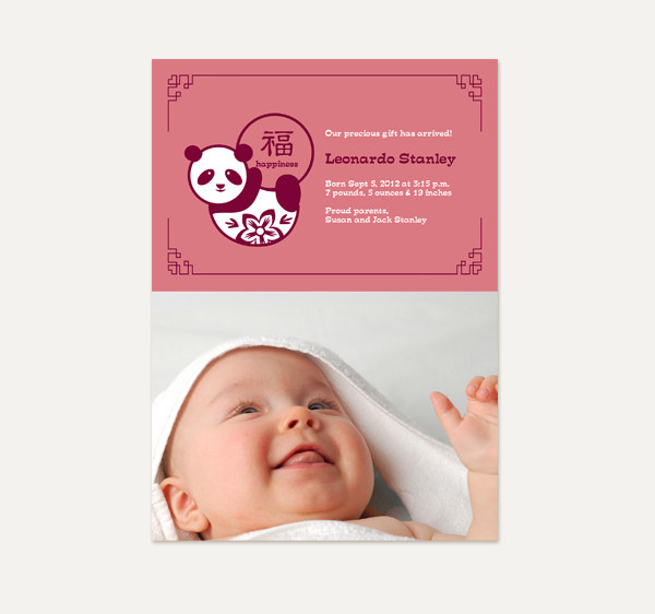 Chris shings portfolio a birthday party invitation card for kids a new born baby announcement card stopboris Choice Image